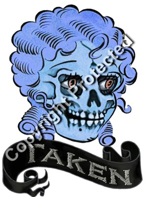 Blondie Skull Blue